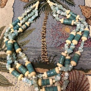 Blue/ White Layered Mix Necklace!!